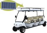 Carrello di golf elettrico con il comitato solare, bianco 6-Seater