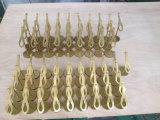 O ouro de vestuário de Eletroplating do aço inoxidável do metal do PNF calç a prateleira de indicador da cremalheira de indicador