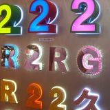 Segno acrilico acrilico verde della lettera della Manica di pubblicità di marca LED