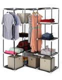 De moderne Eenvoudige Stof die van het Huishouden van de Garderobe de Eenvoudige Garderobe vouwen van de Combinatie van de Versterking van de Grootte van de Koning van de Assemblage van de Opslag van de Afdeling van de Doek (fw-53)