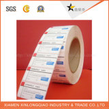 Collant auto-adhésif de papier imperméable à l'eau transparent personnalisé d'impression d'étiquette de PVC