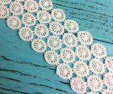 Algodão de alta qualidade as rendas de croché para decoração Hometextiles