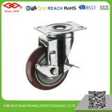 빨간 PU 피마자 바퀴 (P120-36E075X30)