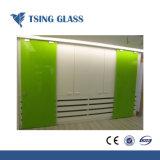 掲示板のキャビネットガラスのための赤い緑の黒く白く青い塗られたガラス