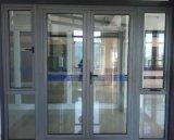 De commerciële Plaats Gebruikte Deur van het Glas van de Gordijnstof van het Aluminium Dubbel Verglaasde (acd-008)