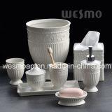 놓이는 돋을새김된 사기그릇 목욕탕 (WBC0579A)