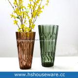 Il bello cristallo all'ingrosso ha pigmentato il vaso di vetro colorato