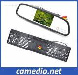 LCD de 4,3, Monitor de automóveis da estrutura da placa de licença da Câmara de retrovisor