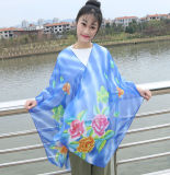 2016 nuovo Style Printed chiffon Scarf con Flowers