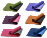 Подгоняйте напечатанную циновку пригодности йоги TPE, Eco содружественное