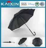 BSCI manche en bois Windproof Parapluie droites