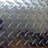 Яркий алюминий клетчатого пластину с помощью компаса с одним хостом