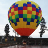 Bekanntmachen der Heißluft-Ballone für im Freiensport