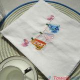 Toalla de té bordada de alta calidad de la cocina del algodón