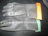 Gants de caoutchouc naturel noir industriel pour usage intensif