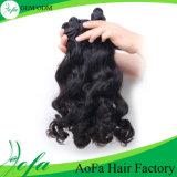Волосы 100% девственницы Dyeable Unprocess шального горячего сбывания естественные черные