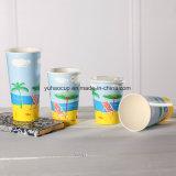 taza de consumición fría de papel de un sólo recinto del batido de leche 12oz