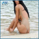 Beachwearのための一つのセクシーで明白な方法ビキニの水着の水着