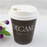 Напечатанный бумажный стаканчик кофеего конструкции логоса с крышкой