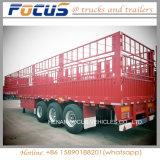 Tri-Asse 60 tonnellate semirimorchio del camion rete fissa/di palo per trasporto del bestiame