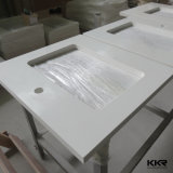 Custom Countertops en quartz artificiel blanc pur sur mesure