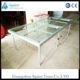 Mobile Acrylglas-Stufe-Aluminiumplattform