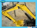 新しい農業機械小型掘削機か農場の庭の掘削機