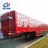 Aotong speichern automatischer anhebender 2floors 3axle Zaun-Viehbestand Haus-Stab-halb Schlussteile