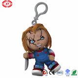 Figura di Chucky con la peluche espressa orribile Keychain della bambola della lama