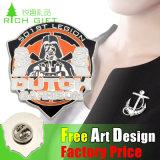 Pin 2016 do Lapel do jogo do esporte do logotipo de Pormotion roupa de bronze feita sob encomenda/emblema personalizados