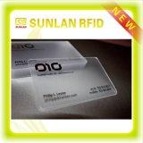 Cartão transparente personalizado do PVC da impressão
