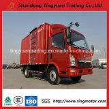 판매를 위한 중국 HOWO 5 톤 4X2 가벼운 상자 트럭