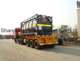 中国語20FT 40FT BPW Axle Gooseneck Skeleton Container Semi Trailer