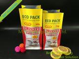砂糖のためのプラスチック平底のパッキング袋