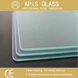 中国の最もよく平らな端の明確な浮遊滑走の緩和された居間のドアガラスの卸売
