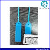 Etiqueta plástica del lacre de la correa RFID con las virutas de Lf/Hf/UHF
