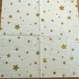 Golden Star Party servilletas de papel, doblar la servilleta de papel