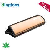 Ce asciutto del vaporizzatore dell'erba del vaporizzatore di Kingtons della penna della batteria della finestra ricaricabile di nero passato