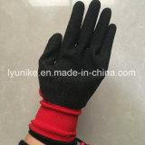 """""""Мятым"""" эффектом с покрытием из латекса безопасности рабочие перчатки"""