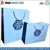 Белая хозяйственная сумка бумаги Kraft для одежды