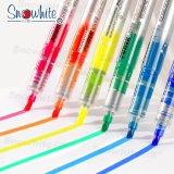Surligneur Snowhite PVP626 à partir de 10 couleurs un assortiment de pointe biseautée encre liquide fluorescent
