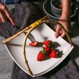 Plaque de Creative pendaison plaque en céramique plat de la plaque de la Salade de vaisselle de table à sushis