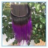 Der Qualitäts-Schliessen große Aktien-1b/Purple Farben-gerades der Spitze-4*4 mit Fabrik-Stück Clc-001