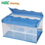 Sólido de alta qualidade dobre a caixa de armazenamento de plástico