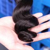 Pacotes brasileiros crus por atacado não processados ondulados do Weave do cabelo da onda preta do corpo frouxo