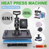 El mejor precio 6en1 Máquina de prensa de calor transferencia digital de sublimación para T-Shirt Mug Hat Phonecase