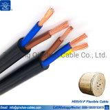 H05VV-F 2X4.0MM2 Câble souple électrique avec ce certificat RoHS