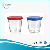 Tazza di plastica dell'urina con i vari formati