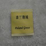 A Polónia marca ganso suaves tecido feito Etiqueta para itens de têxteis