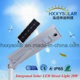 Meilleur Prix en plein air à LED intégrée Rue lumière solaire 20W